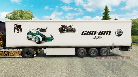 La piel de Can-Am en semi para Euro Truck Simulator 2
