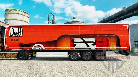 La piel Duff, en semi para Euro Truck Simulator 2