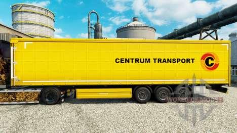 La piel Centrum de Transporte en semi-remolques para Euro Truck Simulator 2