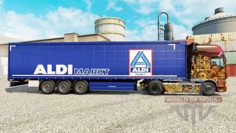 La piel Aldi Markt para semi-remolques para Euro Truck Simulator 2