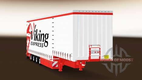 Cortina semirremolque Krone Viking Express para Euro Truck Simulator 2