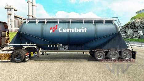 La piel Cembrit cemento semi-remolque para Euro Truck Simulator 2