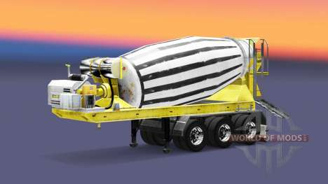 Semi-remolque mezclador de hormigón para Euro Truck Simulator 2