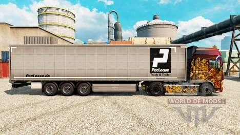 PacLease de la piel para remolques para Euro Truck Simulator 2