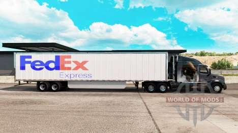 FedEx piel trailer extendido para American Truck Simulator