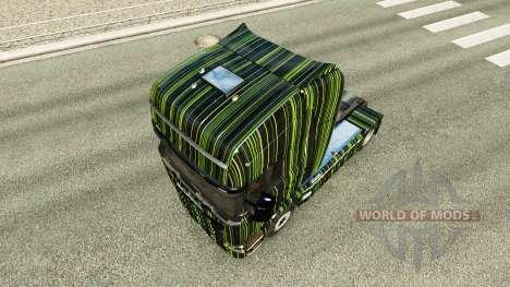 Rayas verdes de la piel para Scania camión para Euro Truck Simulator 2