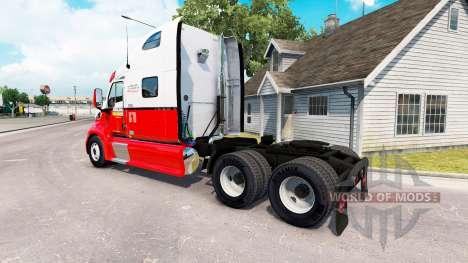 La piel de Arnold Bros, el tractor Peterbilt 387 para American Truck Simulator