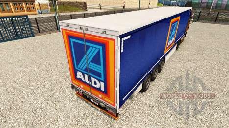 La piel de Aldi en una cortina semi-remolque para Euro Truck Simulator 2