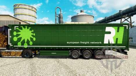 La piel de RH para semi-remolques para Euro Truck Simulator 2