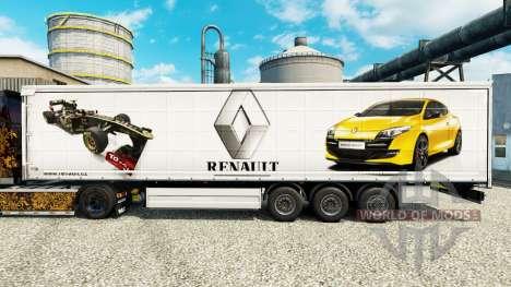 La piel de Renault F1 Team para la semi para Euro Truck Simulator 2