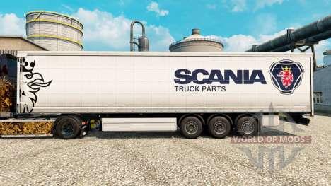 La piel Scania de Piezas de Camiones semi-remolq para Euro Truck Simulator 2