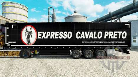 La piel Expresso Cavalo Preto, en la semi para Euro Truck Simulator 2