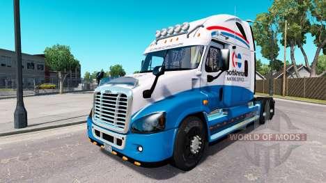 Скин de América del Norte на Freightliner Cascad para American Truck Simulator