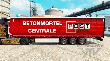 La piel Post Harderwijk en semi para Euro Truck Simulator 2