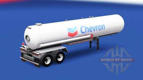 La piel de Chevron en el tanque de gas semi-remo para American Truck Simulator