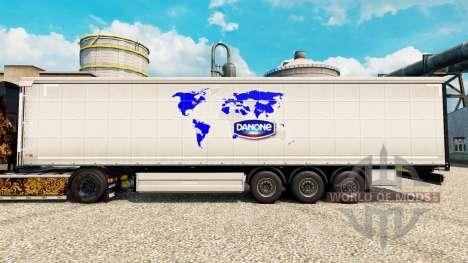 La piel de Danone para remolques para Euro Truck Simulator 2