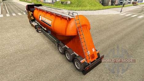La piel Fangmann cemento semi-remolque para Euro Truck Simulator 2