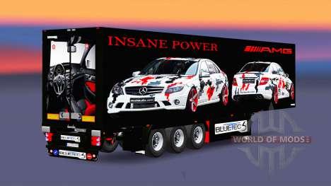 El semirremolque-el refrigerador AMG Poder para Euro Truck Simulator 2