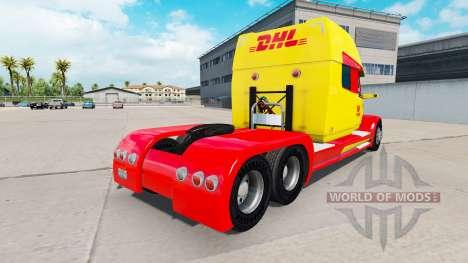 La piel de DHL para un camión Concepto de camión para American Truck Simulator