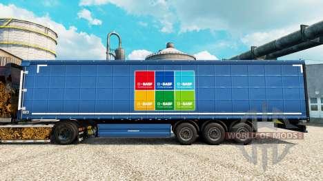 La piel BASF Societas Europaea en semi para Euro Truck Simulator 2
