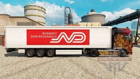 Norbert Dentressangle de la piel para remolques para Euro Truck Simulator 2