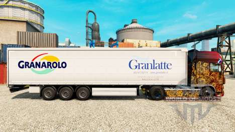 La piel Granlatte para remolques para Euro Truck Simulator 2