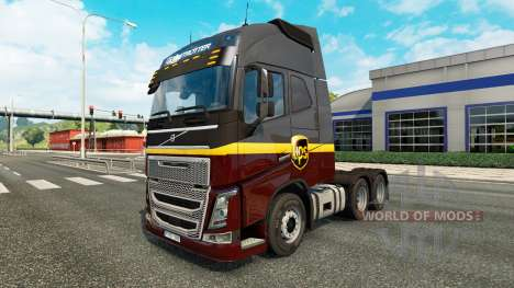 UPS piel para camiones Volvo para Euro Truck Simulator 2