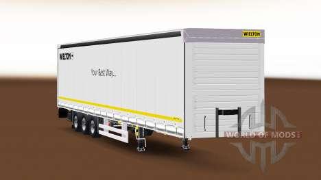 Cortina semi-remolque Wielton v1.1 para Euro Truck Simulator 2