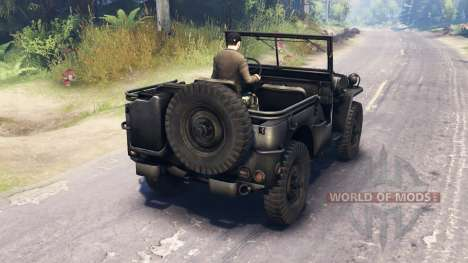 Jeep Willys MB 1942 para Spin Tires