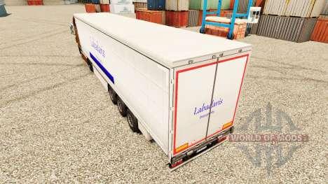La piel Labadaris Transportes en remolques para Euro Truck Simulator 2