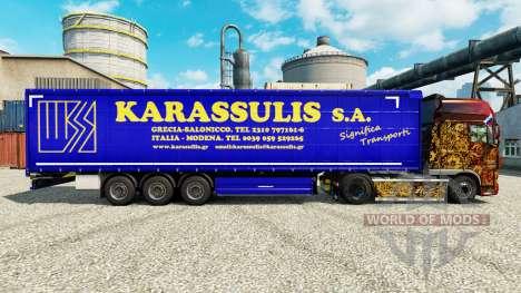 La piel Karassulis S. A. y semi-remolques para Euro Truck Simulator 2