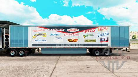 Skin Fuerza Heinz extended trailer para American Truck Simulator