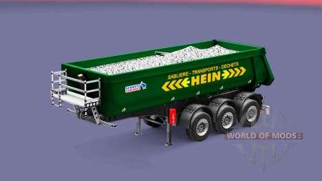 Semi-remolque tipper Schmitz Cargobull HEIN para Euro Truck Simulator 2