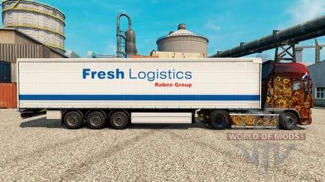 Fresco de la Logística de la piel para remolques para Euro Truck Simulator 2