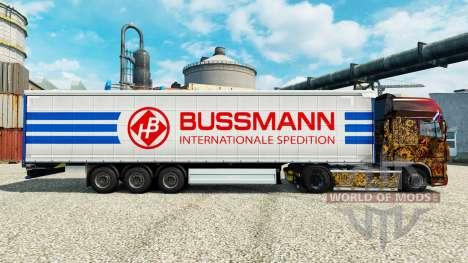 La piel en semi Bussmann para Euro Truck Simulator 2