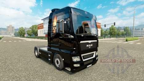 La piel del Cráneo sobre el fuego en un tractor  para Euro Truck Simulator 2