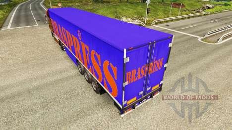 Braspress de la piel para remolques para Euro Truck Simulator 2