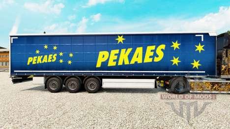 La piel pekaes sa en una cortina semi-remolque para Euro Truck Simulator 2