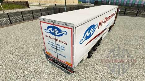 La piel NV-Thermotrans Oy en una cortina semi-re para Euro Truck Simulator 2