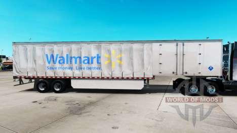 La piel de Walmart en una cortina semi-remolque para American Truck Simulator