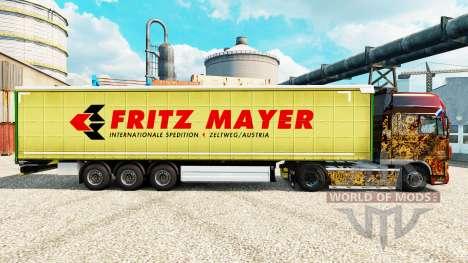 La piel Fritz Mayer en semi para Euro Truck Simulator 2