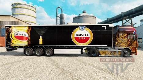 La piel de Amstel para remolques para Euro Truck Simulator 2