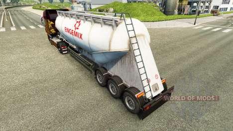 La piel Engemix cemento semi-remolque para Euro Truck Simulator 2