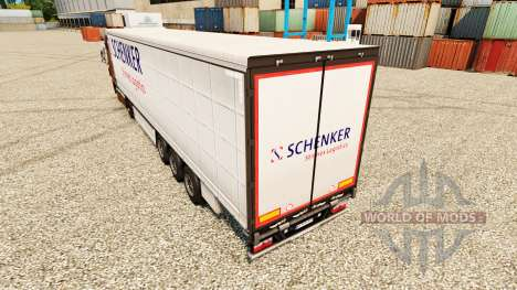 La piel Schenker Stinnes Logística para remolque para Euro Truck Simulator 2