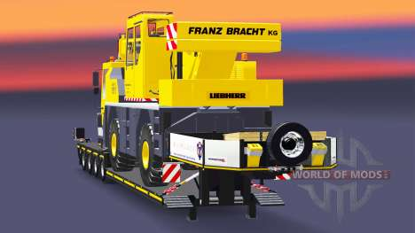 Baja barrido de camión grúa Liebherr LTM 1030 para Euro Truck Simulator 2