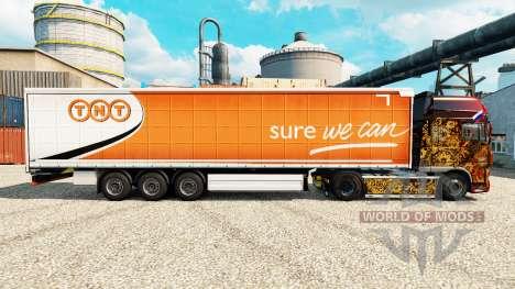 La piel de TNT Express semi para Euro Truck Simulator 2