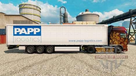 La piel de la Papp de Logística para remolques para Euro Truck Simulator 2
