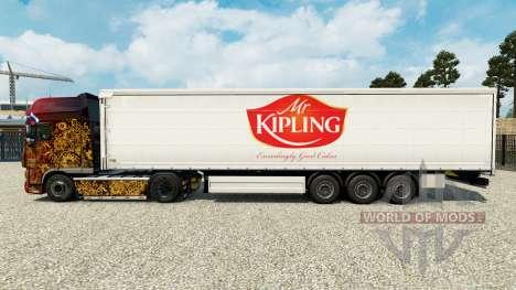 Piel el Señor Kipling en una cortina semi-remolq para Euro Truck Simulator 2