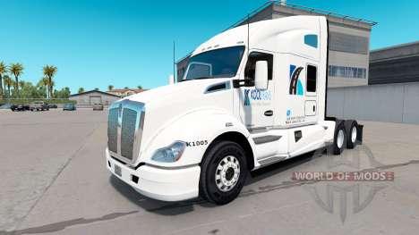 La piel KoolTrans en el tractor Kenworth T680 para American Truck Simulator