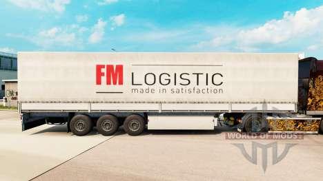 La piel de FM Logistic en la semi para Euro Truck Simulator 2